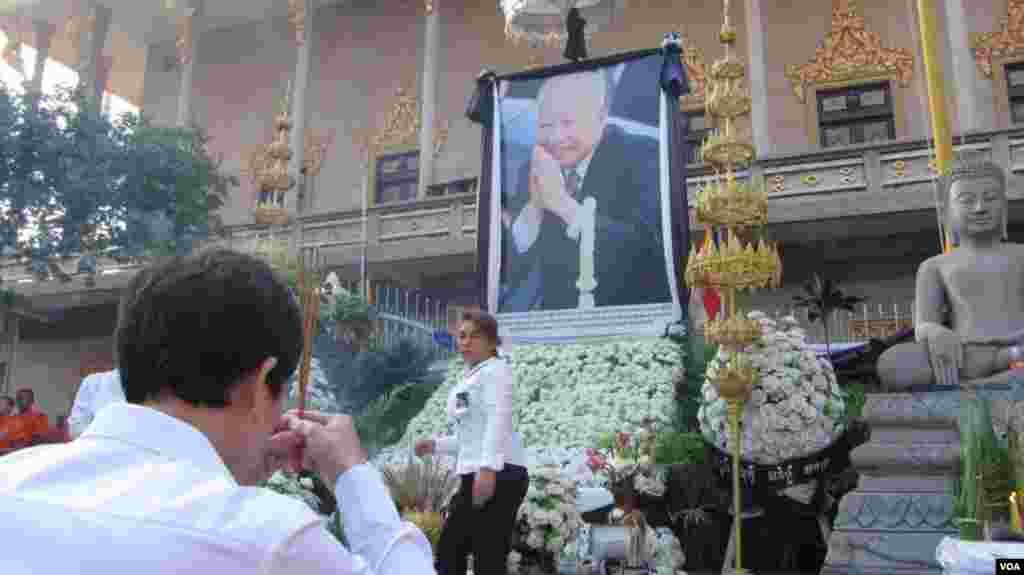 مراسم تشیه جنازه سیهانوک، پادشاه پیشین کامبوج