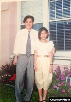 Jennifer Ka with her father, Keith Ka, in 1997. (Courtesy Photo of Jennifer Ka)