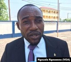 B. Parfait Mantsala, responsable d'une ONG de défense des droits des mineurs à Brazzaville, le 11 mai 2017. (VOA/Ngouela Ngoussou)