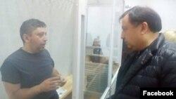 Fikrət Hüseynli və Ukrayna Ali Radasının deputati Nikola Knyazhytski (Foto Səid Nurinindir)