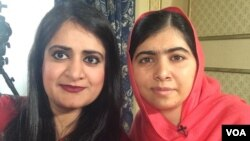VOA reporter Madeeha Anwer traveled to Oslo, Norway, for an exclusive interview with Malala, Dec. 10, 2014. (VOA / M. Anwer)