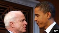 Барак Обама (рост 185 см) одержал победу над Джоном Маккейном (рост 173 см)