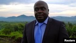 Le leader du M23 Bertrand Bisimwa à Bunagana, dans le Nord Kivu, le 26 avril 2013. (PHOTO Reuters)