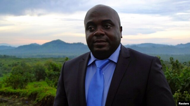 M23 leader Bertrand Bisimwa in the rebel-held town of Bunagana, North Kivu, April 26, 2013.