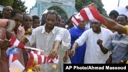 Klip video film anti-Islam yang diunggah ke YouTube telah memicu berbagai protes anti Amerika, termasuk di ibukota Kenya, Mombasa (14/9).