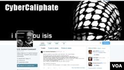 Những hacker tuyên bố trung thành với Nhà nước Hồi giáo tấn công địa chỉa Twitter của Lực lượng Chỉ huy Trung ương Hoa Kỳ 12/1/2015. (Ảnh chụp màn hình)