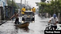 Lụt ở Băc Triều Tiên hồi tháng 7