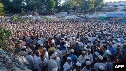 ကုတုပေလာင္ ဒုကၡသည္စခန္းတြင္းမွာ အသတ္ခံရသူ ႐ိုဟင္ဂ်ာအေရးေခါင္းေဆာင္ Mohib Ullah ရဲ႕စ်ာပန။ (စက္တင္ဘာ ၃၀၊ ၂၀၂၁)
