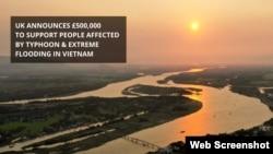 Anh hỗ trợ Việt Nam 500.000 bảng Anh để khắc phục hậu quả lũ lụt. Photo Facebook UK in Vietnam