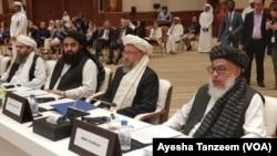هیات مذاکره کننده طالبان در دوحه (عکس از آرشیف)