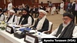 امریکہ اور طالبان کے درمیان دوحہ میں امن مذاکرات جاری ہیں۔ (فائل فوٹو)