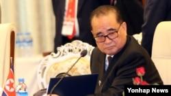 지난해 8월 리수용 북한 외무상이 미얀마에서 열린 아세안지역안보포럼(ARF)에 참석했다. (자료사진)