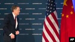 로버트 라이트하이저 미국 무역대표부 대표가 지난 5월 워싱턴 미상공회의소에서 열린 '중국 비즈니스 컨퍼런스'에 참석했다.