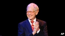 "FILE - David Letterman attends ""An Evening of SeriousFun Celebrating the Legacy of Paul Newman"""