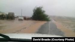 L'île Boavista, Cap-Vert, pendant l'ouragan Fred.