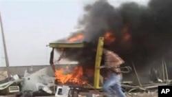 星期天在利比亞的米蘇拉塔市附近的一個檢查站