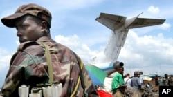 Un avion à l'aéroport de Goma