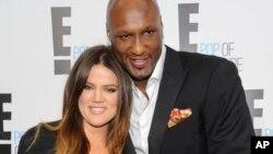 Khloe Kardashian và cầu thủ bóng rổ chuyên nghiệp Lamar Odom.