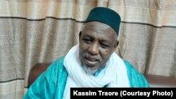 Imam Mahamoud Dicko, avant une conférence de presse.