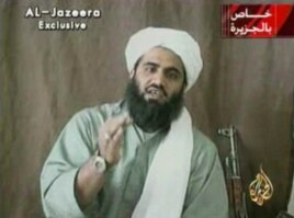 FILE - This undated image made from video provided by by Al-Jazeera shows Sulaiman Abu Ghaith, Osama bin Laden's son-in-law and spokesman.
