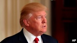 Le président des Etats-Unis Donald Trump, 20 avril 2017.
