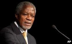 លោក Kofi Annan បេសកជនពិសេសរបស់អង្គការសហប្រជាជាតិនិងសម្ព័ន្ធអារ៉ាប់ ថ្លែងពីបញ្ហាប្រទេសស៊ីរី។