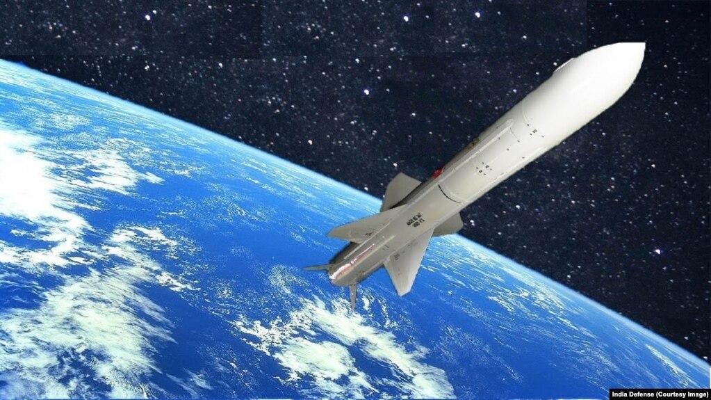 Ảnh mô phỏng tên lửa chống vệ tinh của Ấn Độ