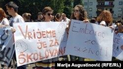 Učenici protestovali ispred Vlade Srednjebosanskog kantona