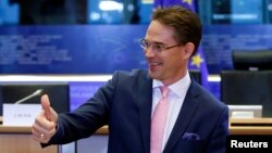 FILE - European Jobs, Growth, Investment and Competitiveness Commissioner Jyrki Katainen.