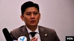 香港公民黨立法會議員譚文豪。(美國之音湯惠芸)