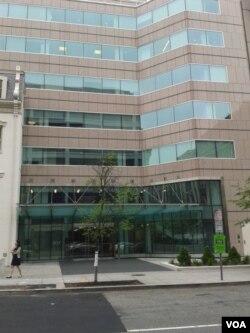 美国外交关系理事会外景(美国之音申华拍摄)
