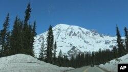 El monte Rainier, donde han desaparecido seis personas que se dan por muertas.