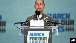 Ema Gonzales, jedna od preživjelih učenica na Maršu za naše živote u Vašingtonu, 24. marta 2018.