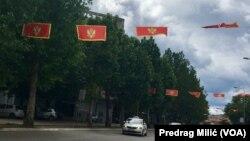 Zastave Crne Gore u Podgorici povodom obeležavanja 13. godišnjice nezavisnosti