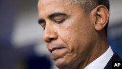 Presiden AS Barack Obama saat berbicara pada wartawan di Gedung Putih mengenai penembakan Trayvon Martin (19/7). (AP/Manuel Balce Ceneta)