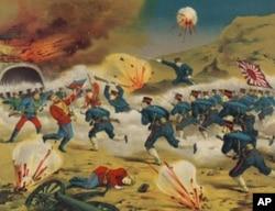 日本一幅描写日俄战争的画作