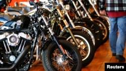Harley Davidson motori na izložbi u Londonu