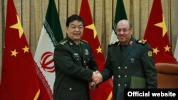 دیدار وزیر دفاع چین با وزیر دفاع ایران