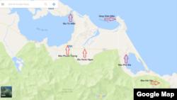 Cảng Chân Mây và những vị trí xung yếu chung quanh. Ảnh: Lê Anh Hùng