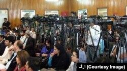 په تیرو ۱۶کلونو کې نن د لومړي ځل لپاره افغان حکومت او د افغان خبریالانو فدراسیون د مطبوعاتو د ازادۍ ورځ یوځای سره ولمانځله