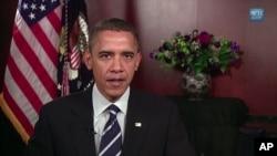 US President Barack Obama delivers his weekly radio, TV and Internet address, 13 Nov 2010