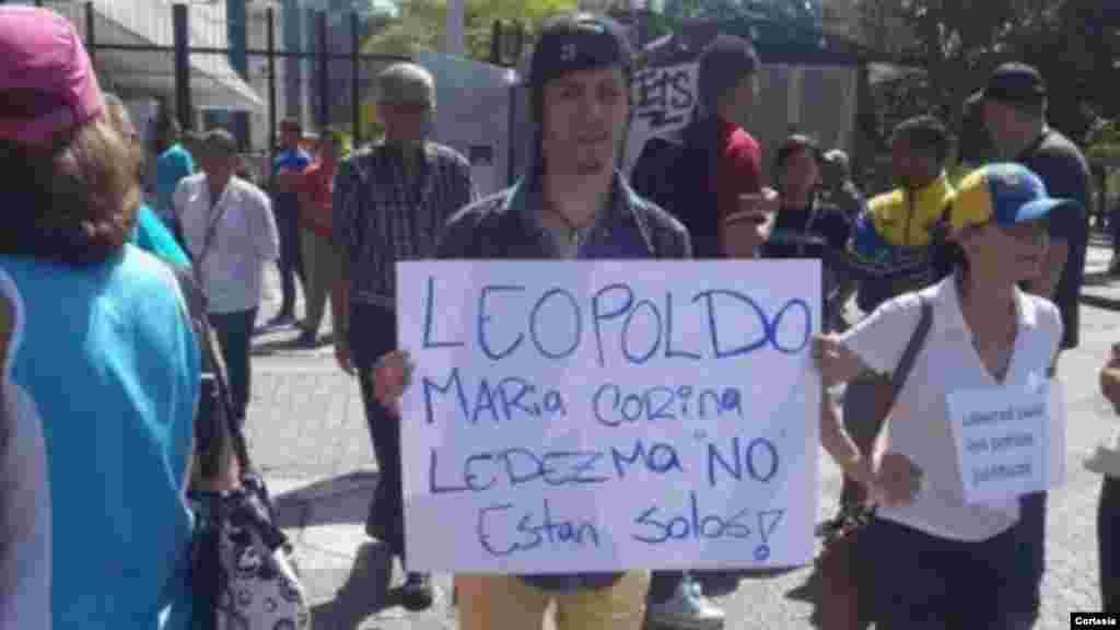 Protesta en la Ciudad de Caracas por la liberación del alcalde, Antonio Ledezma.