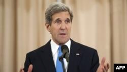 ລັດຖະມົນກະຊວງຕ່າງປະເທດສະຫະລັດ ທ່ານ John Kerry ກ່າວຖະແຫລງ ໃນວາລະເປີດເຜີຍລາຍງານປະຈໍາປີກ່ຽວກັບການລັກລອບຄ້າມະນຸດ, ວັນພຸດ ທີ 19 ມິຖຸນາ 2013.