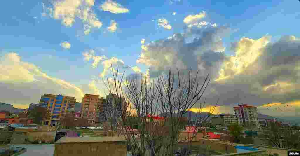 آسمان شهر کابل در روزهای قرنطین