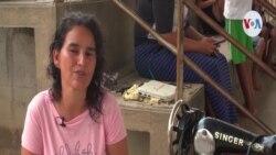 Con maquinas de coser, dos migrantes venezolanas emprenden sus sueños