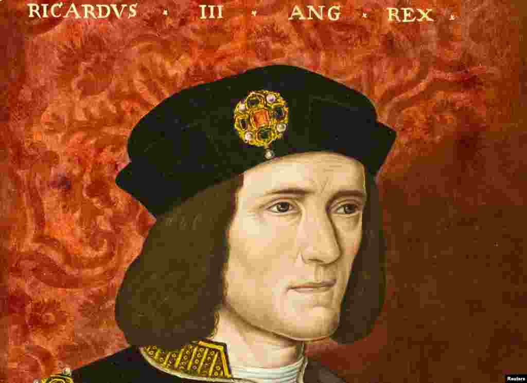 A painting of King Richard III by an unknown artist from the 16th Century is seen at the National Portrait Gallery in London in an August 24, 2012 file photo.