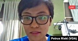 Sandra Suryadana, dokter umum dan pendiri gerakan sosial Dokter Tanpa Stigma dalam tangkapan layar. (Foto: VOA/Petrus Riski)
