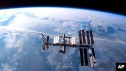 Gambar Stasiun Antariksa Internasional (ISS) diambil dari Pesawat Ulang-Alik Atlantis (Foto: dok).