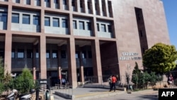 The courthouse in Gaziantep, southern Turkey, where Australian jihadist Neil Prakash, detained by Turkey last year on charges of joining the Islamic State extremist group in Syria, was on trial, Sept. 28, 2018, on charges of membership of the organization.