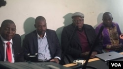 MDC Alliance principals present Chamisa as 2018 presidential candidate.